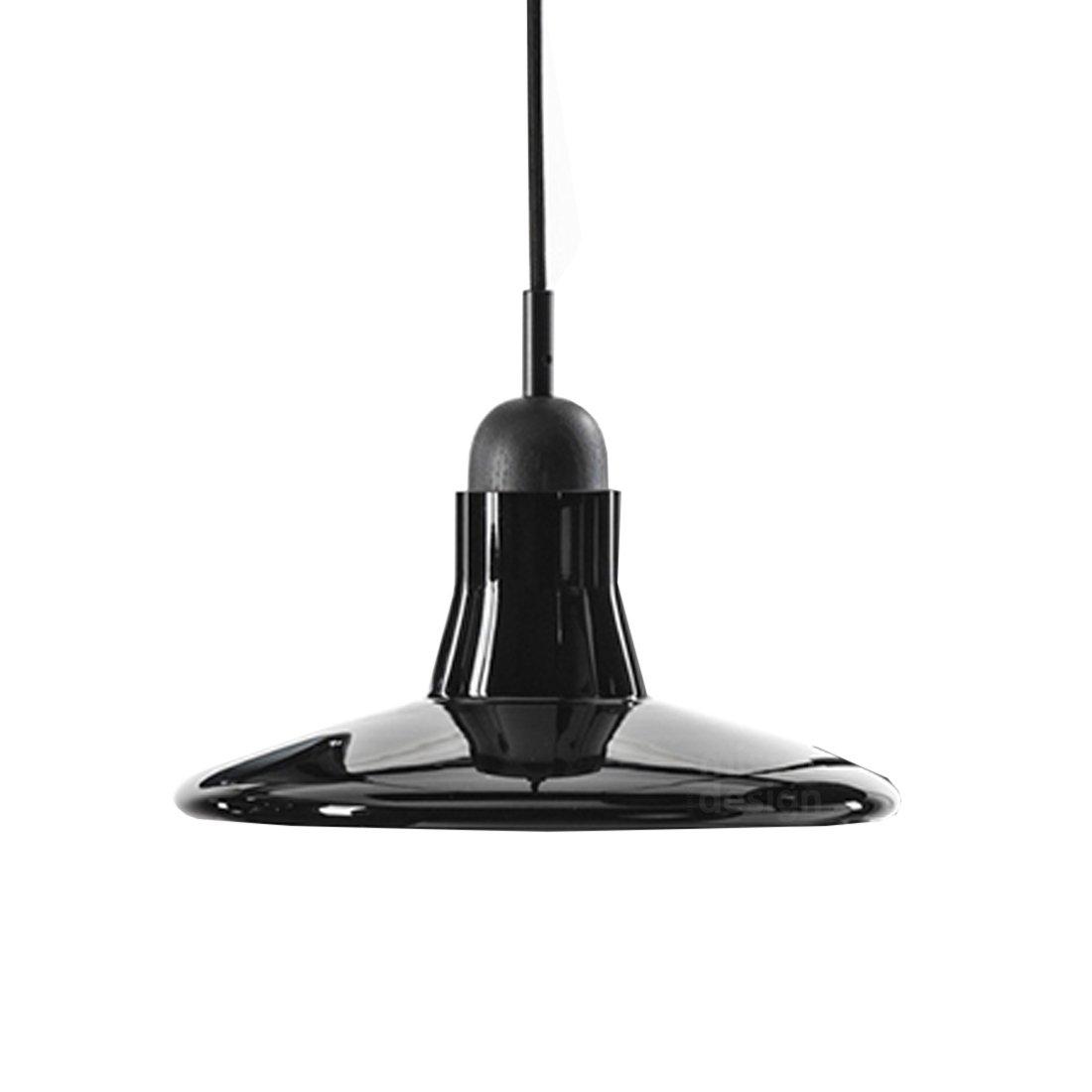 Brokis Shadow Flat Hanglamp - Zwart Eiken Glossy Opaal Zwart