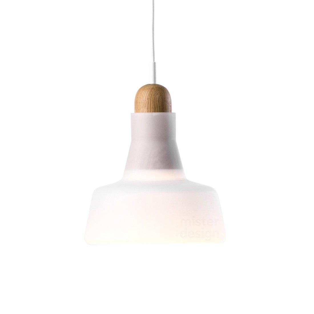 Brokis Shadow Waist Hanglamp - Eiken Wit Opaal Glossy