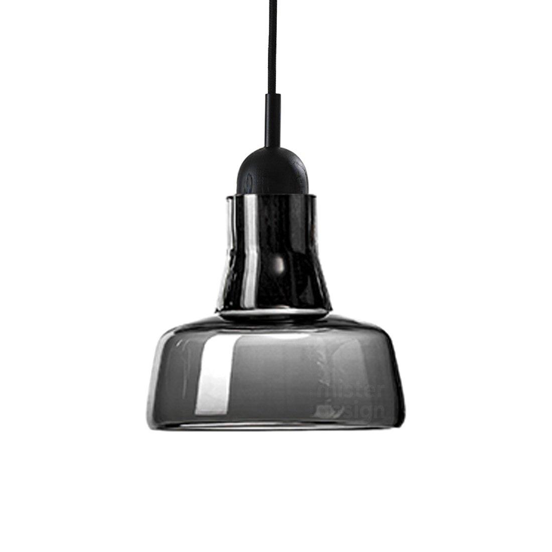 Brokis Shadow Waist Hanglamp - Zwart Eiken Glossy Zwart