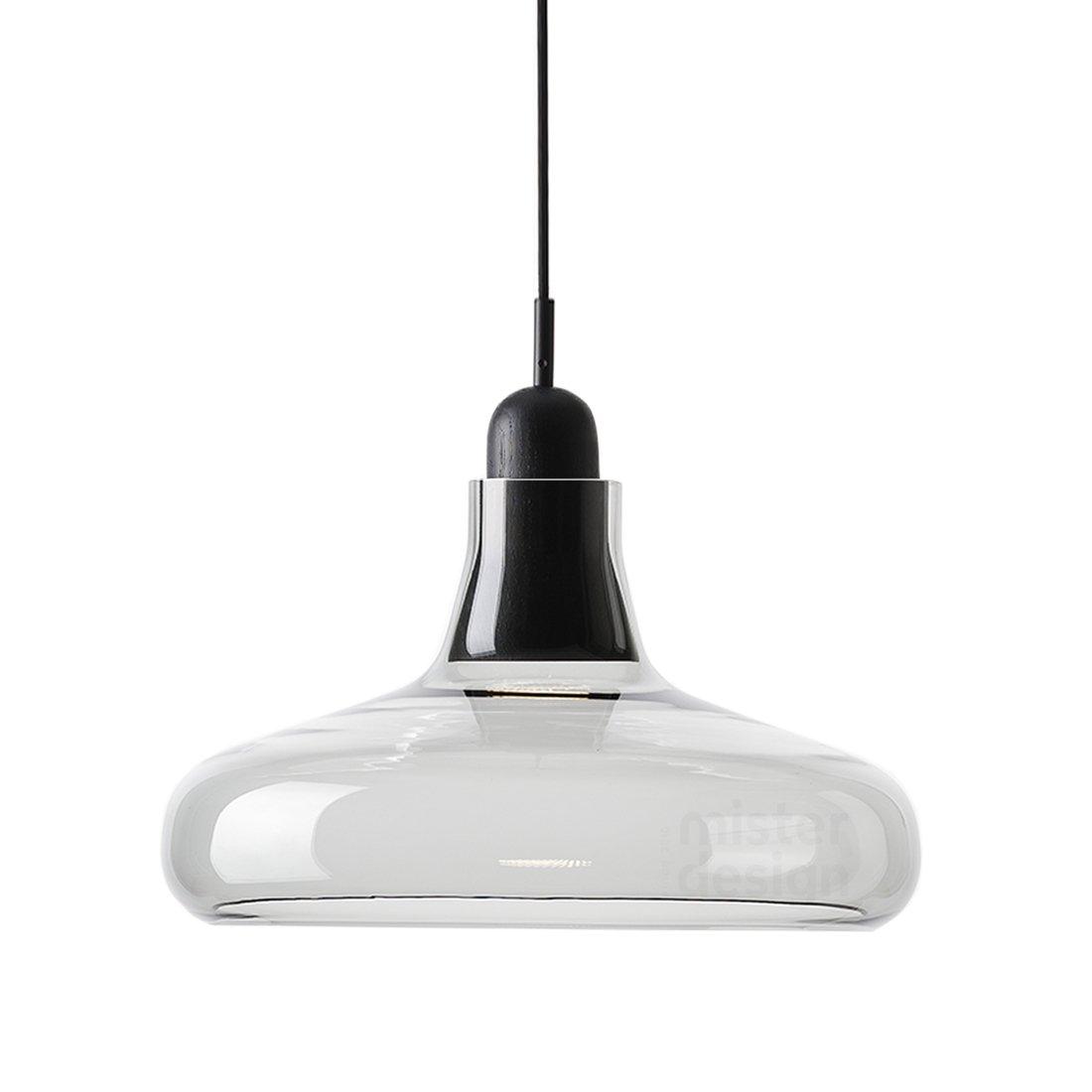 Brokis Shadow Wide Hanglamp XL - Zwart Eiken Glossy Transparant