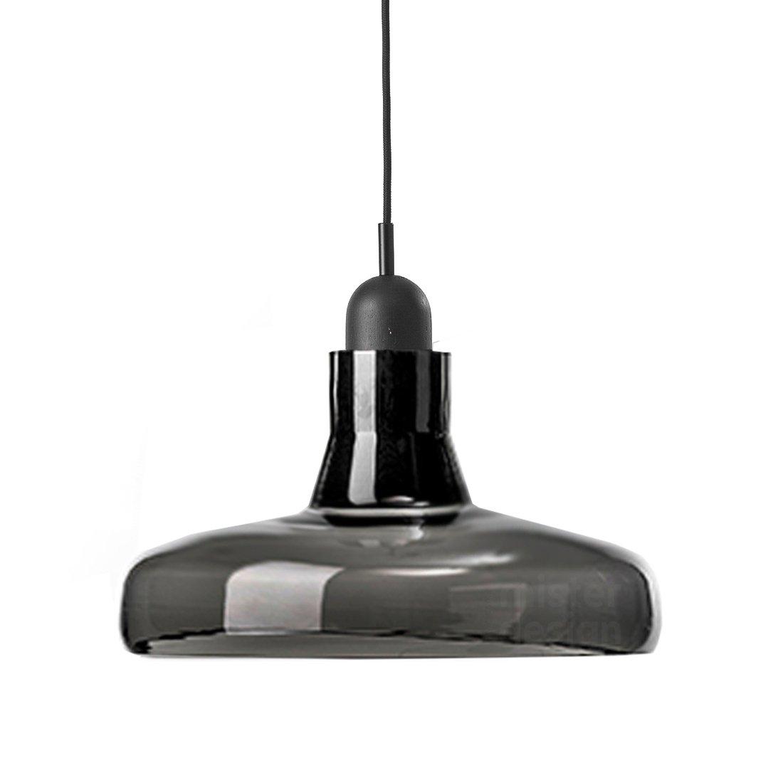 Brokis Shadow Wide Hanglamp XL - Zwart Eiken Glossy Zwart