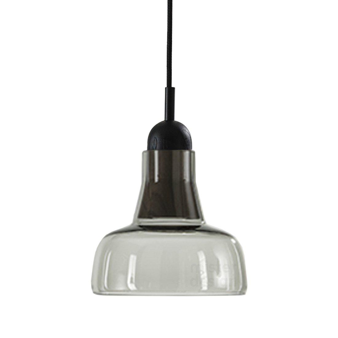 Brokis Shadow Waist Hanglamp - Zwart Eiken Glossy Transparant