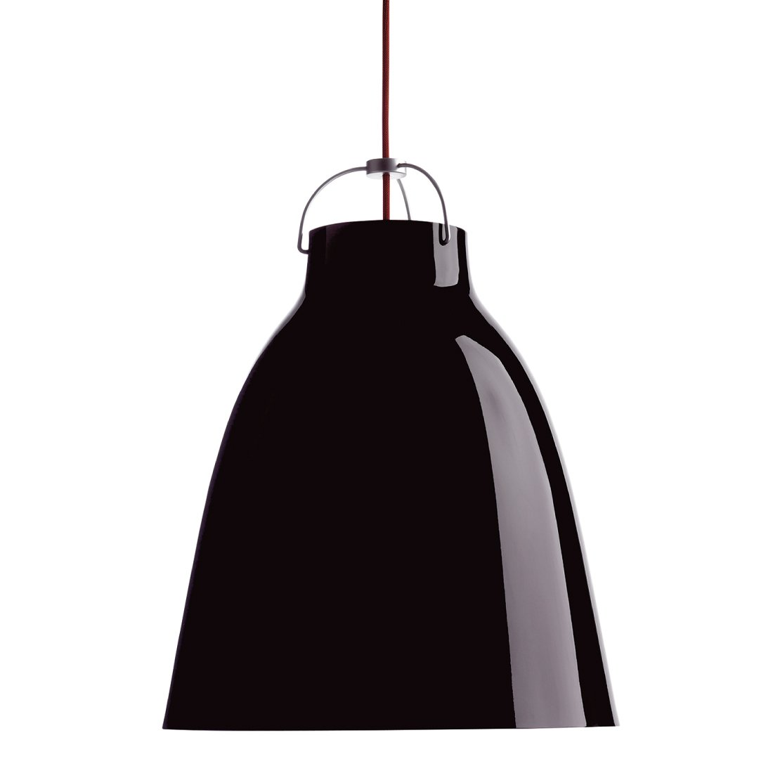 Lightyears Caravaggio P3 Hoogglans Zwart - Rood - Snoer 600 cm