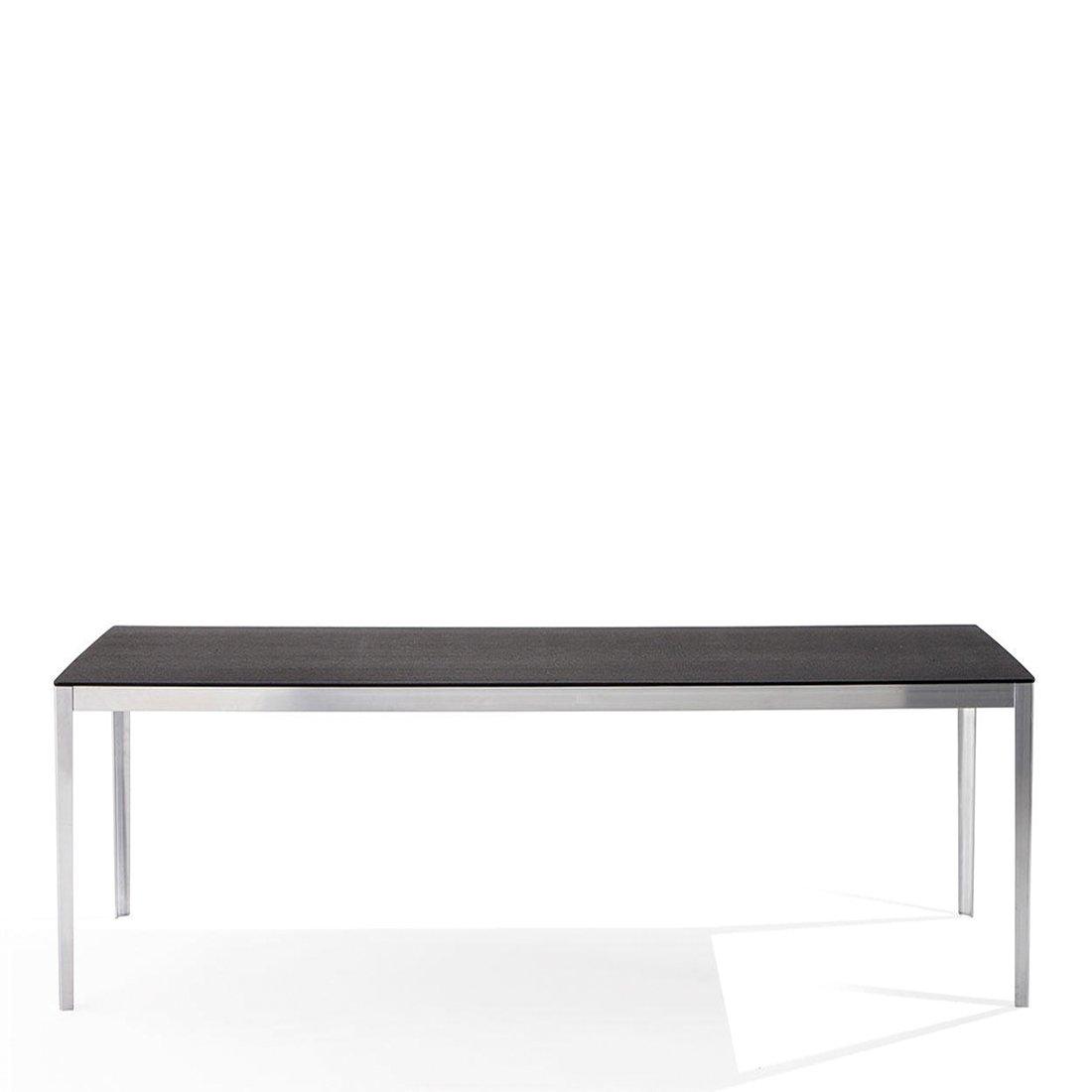 Cassina Cotone Tafel 200 x 90 - Aluminium/Zwart Eiken