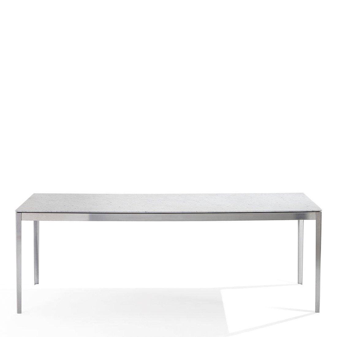 Cassina Cotone Tafel 200 x 90 - Aluminium/Carrara