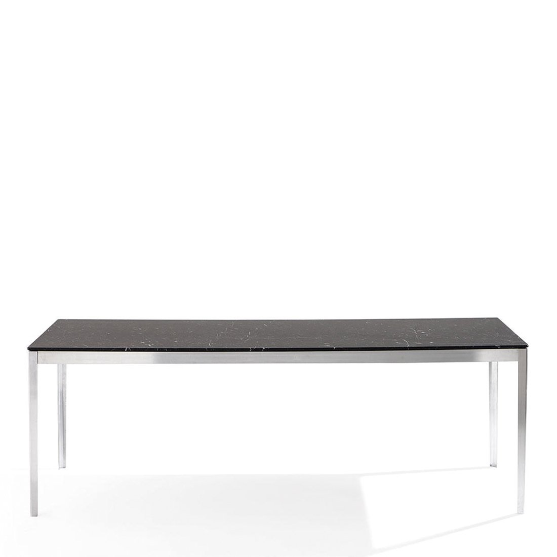 Cassina Cotone Tafel 160 x 80 - Aluminium/Marquina