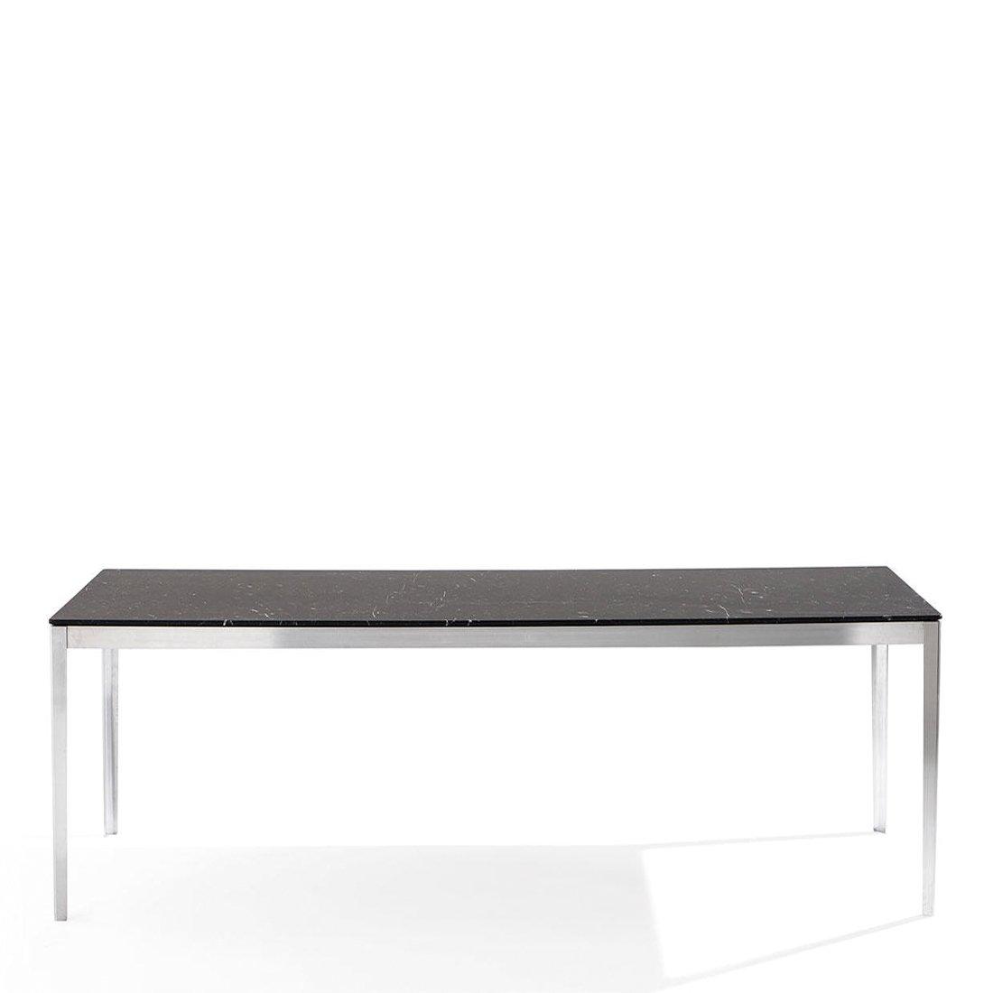 Cassina Cotone Tafel 240 x 90 - Aluminium/Marquina