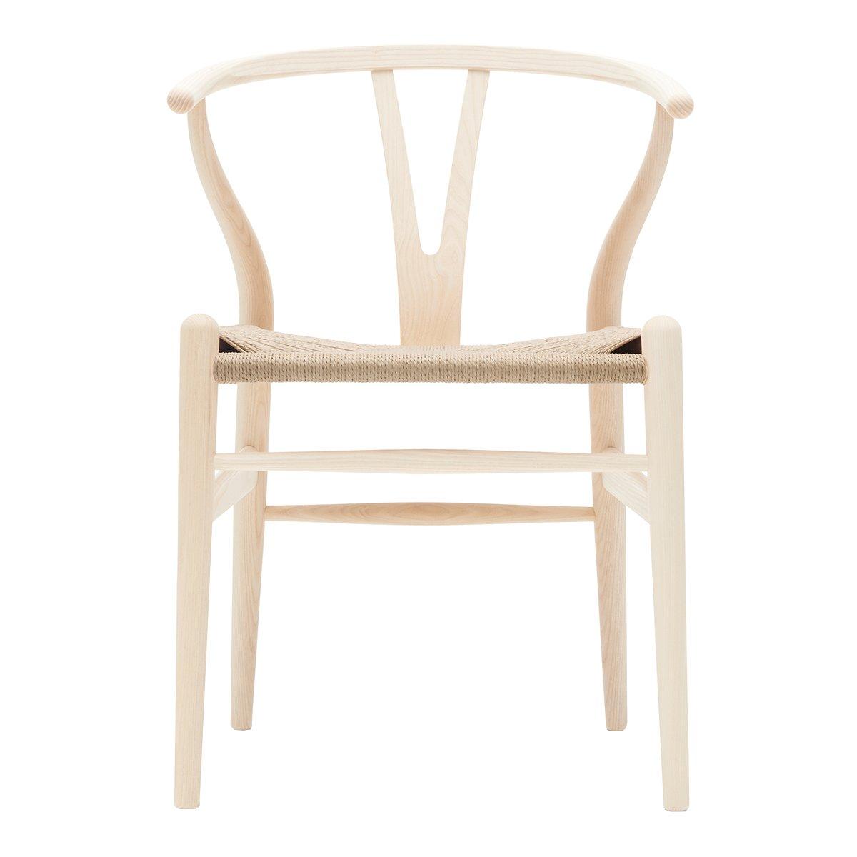 Carl Hansen Wishbone Chair Eiken Wit Geolied - Naturel