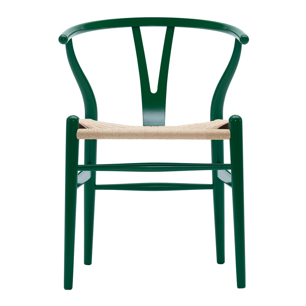 Carl Hansen & S�n Wishbone Stoel CH24 Beuken - Grass Green/Naturel