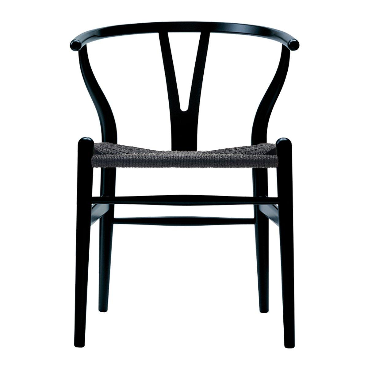 Carl Hansen & S�n Wishbone Stoel CH24 Beuken - Black/Zwart