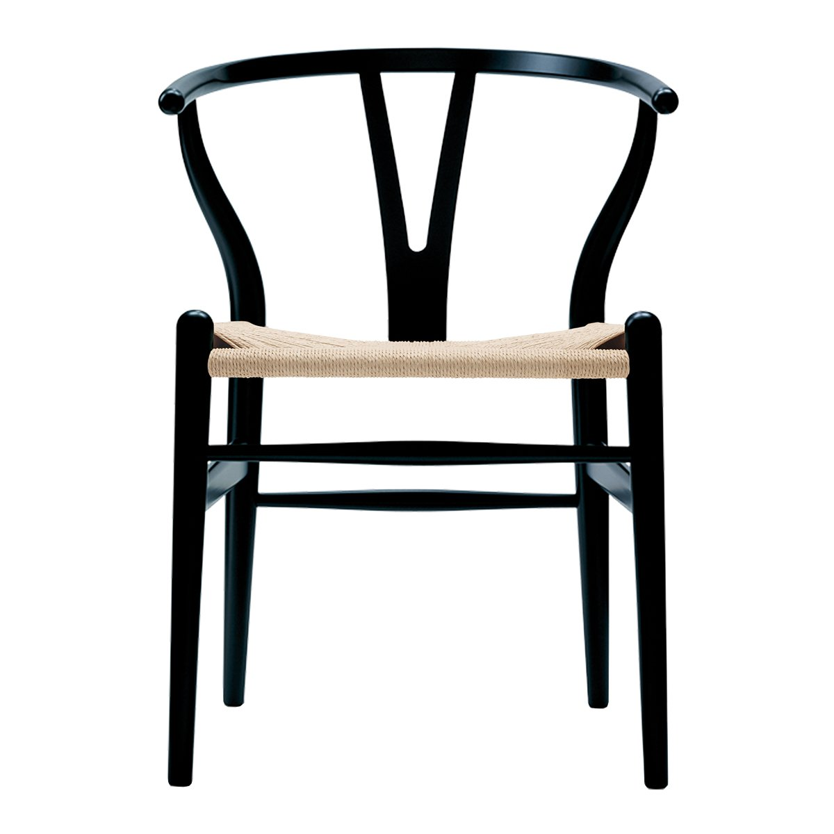 Carl Hansen & S�n Wishbone Stoel CH24 Beuken - Black - Naturel