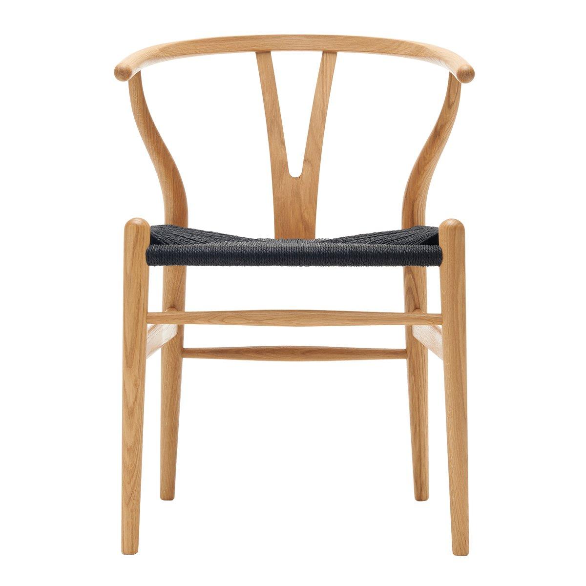 Carl Hansen Wishbone Chair Eiken Geolied - Zwart