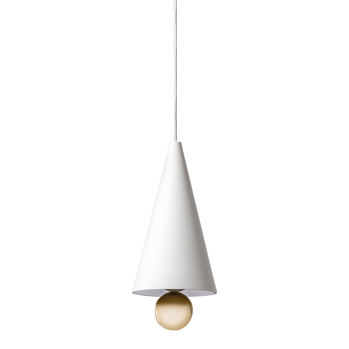 Petite Friture Cherry Hanglamp - Small/White-Gold