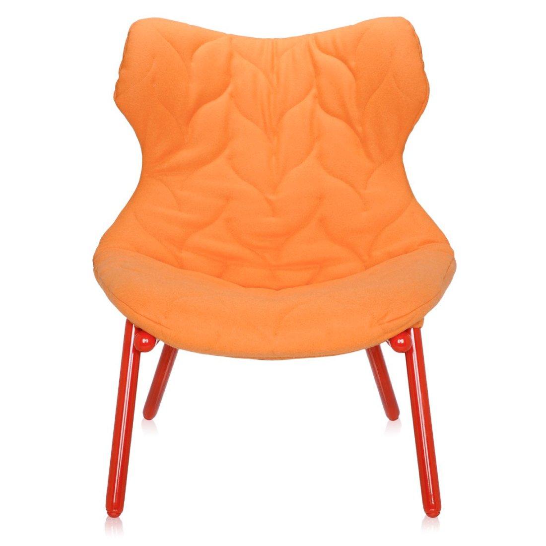 Kartell Foliage Fauteuil Cloth Oranje - Rood
