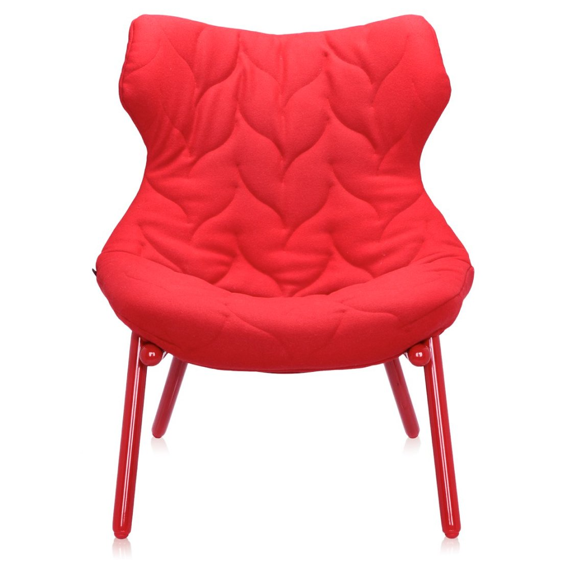 Kartell Foliage Fauteuil Cloth Rood / Rood