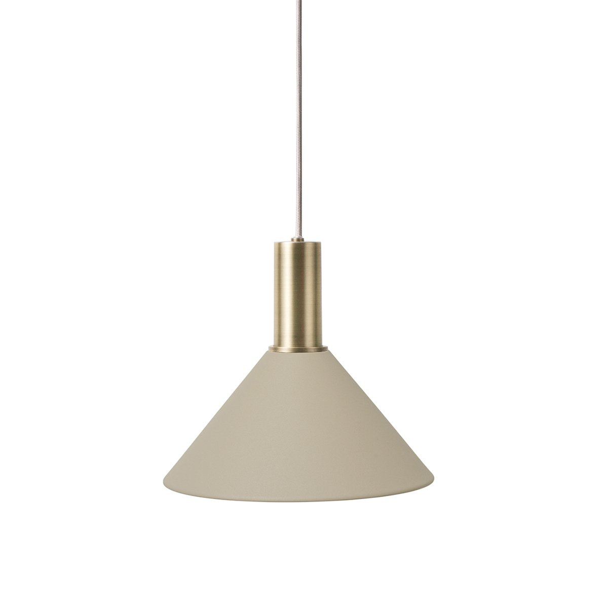 Ferm Living Collect Cone Cashmere Low Hanglamp - Messing