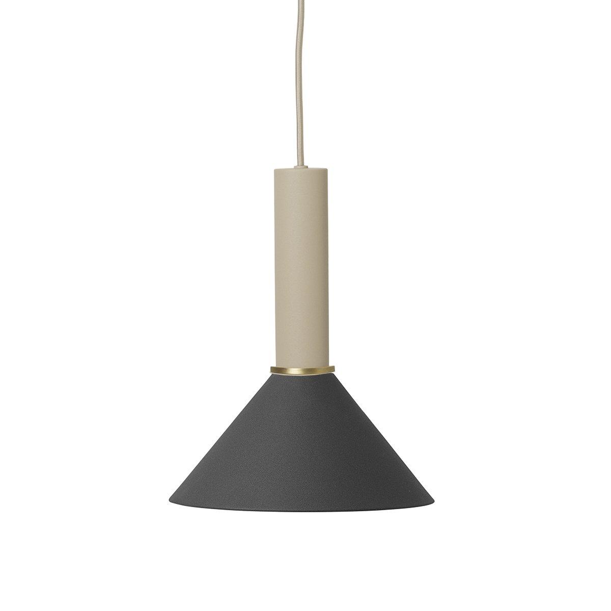 Ferm Living Collect Cone Zwart High Hanglamp - Cashmere