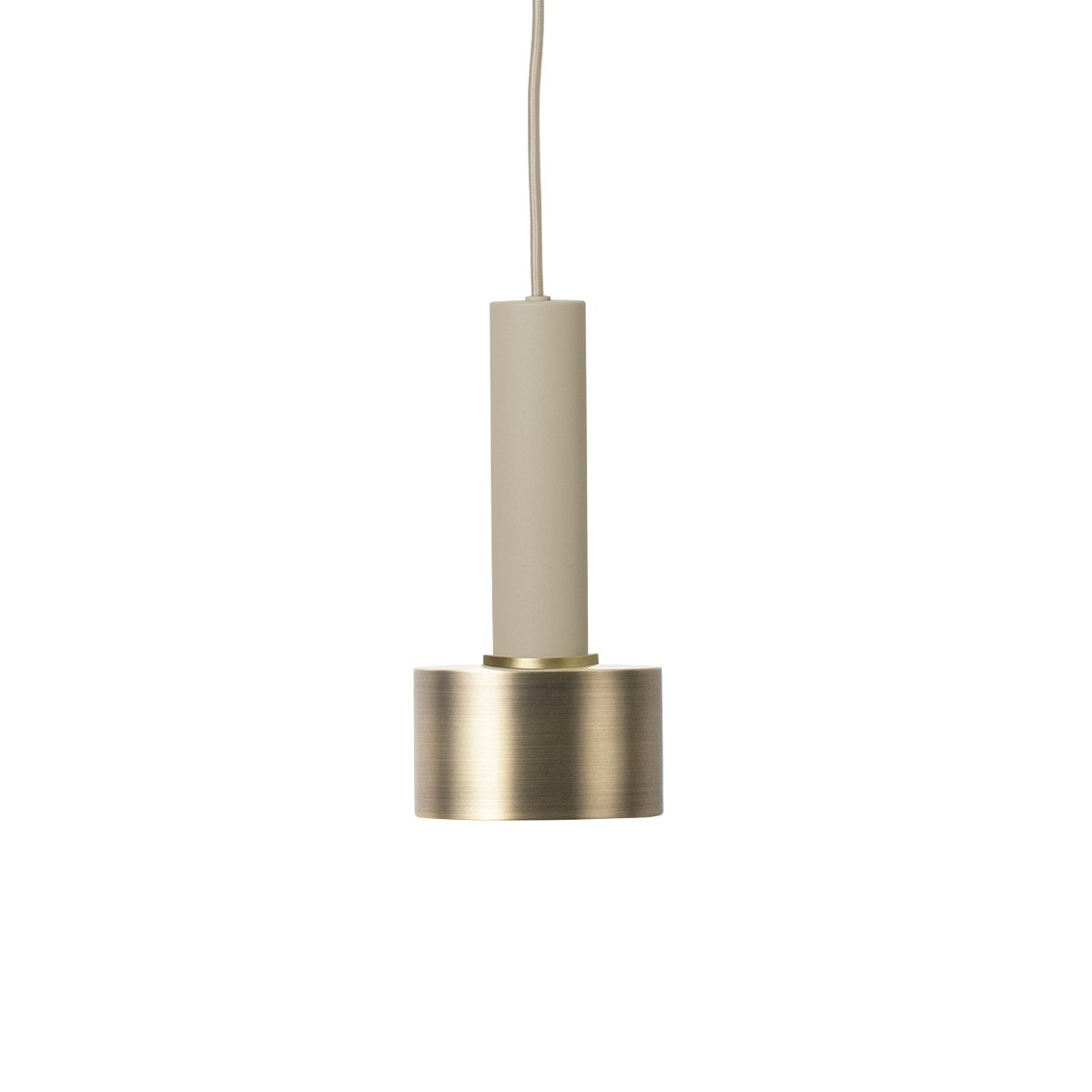 Ferm Living Collect Disc Messing High Hanglamp - Cashmere