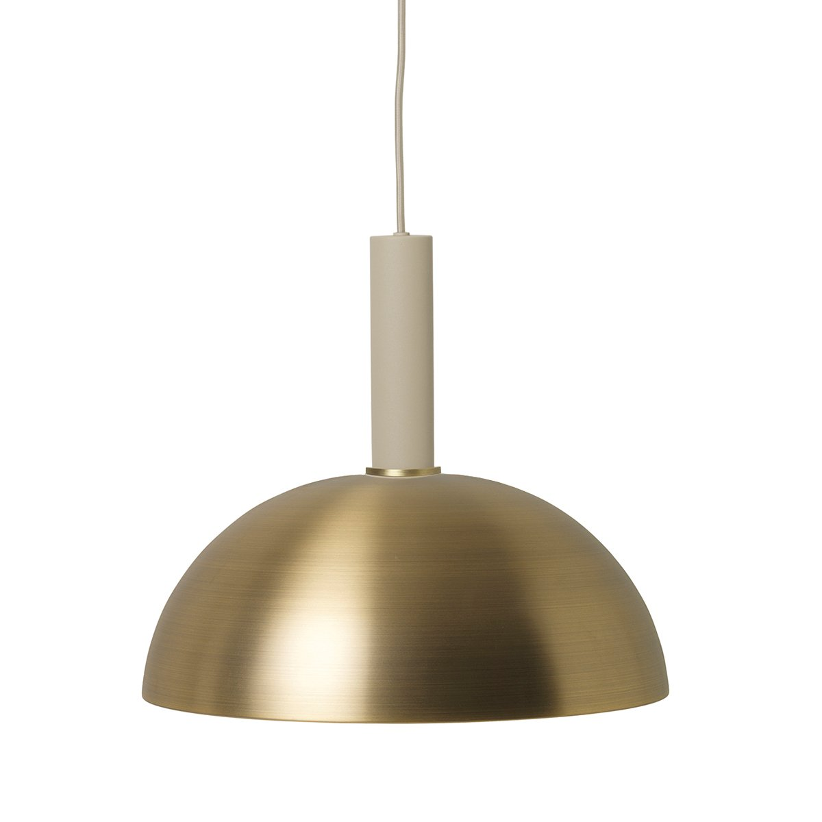 Ferm Living Collect Dome High Hanglamp Messing - Cashmere