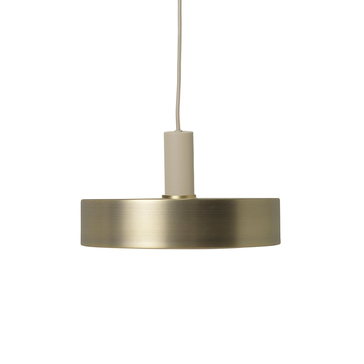 Ferm Living Collect Record Messing Low Hanglamp - Cashmere