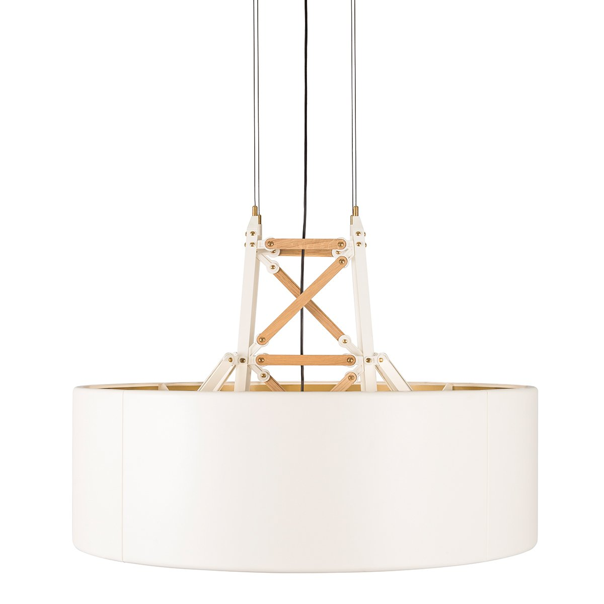 Moooi Construction Hanglamp - Wit/Hout - Large