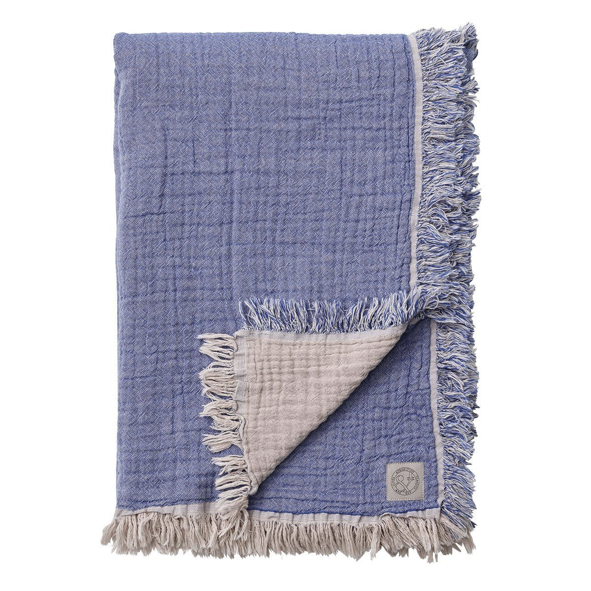 &Tradition Cotton Throw Deken Blauw - 140 x 210 cm.