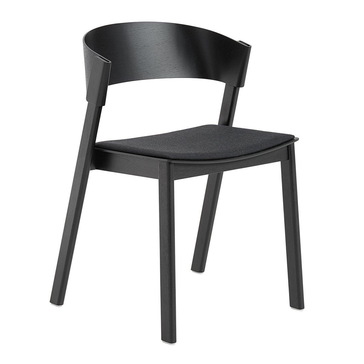 Muuto Cover Side Chair - Zwart - Remix 183 Stoffering