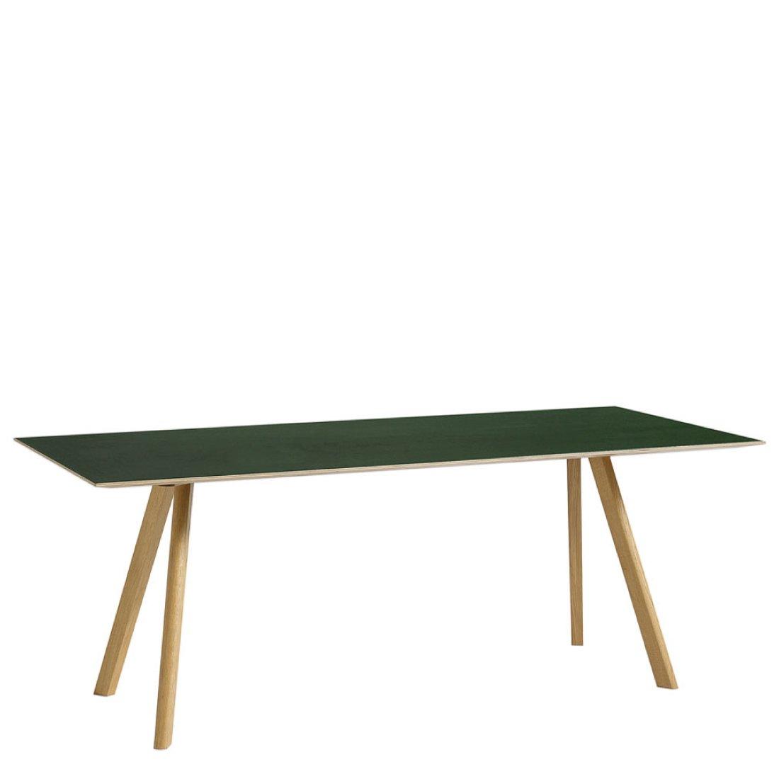HAY CPH30 Tafel 200 x 90 cm Gelakt Eiken - Groen
