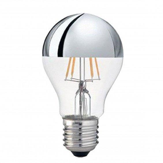 FLOS LED E27 8W Zilveren Kopspiegel