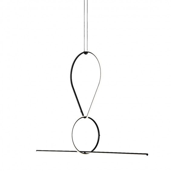 FLOS Arrangements Hanglamp 3 - Drop Down, Round Small, Line