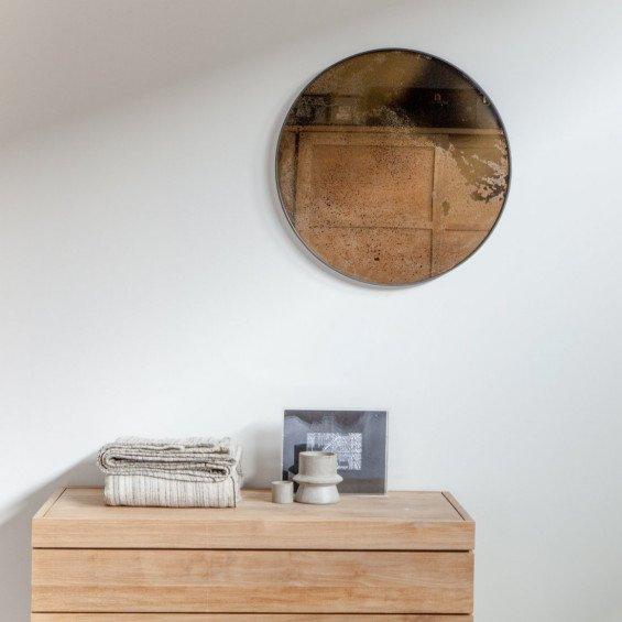 notre monde bronze mirror spiegel rond misterdesign