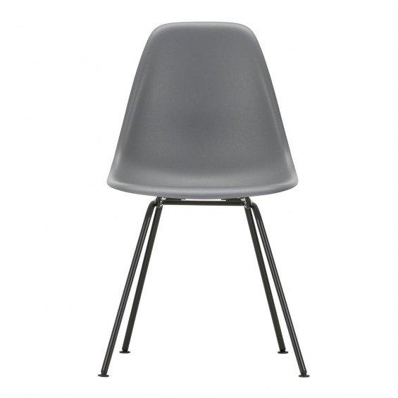 Vitra Eames Plastic Chair DSX Stoel Zwart Onderstel