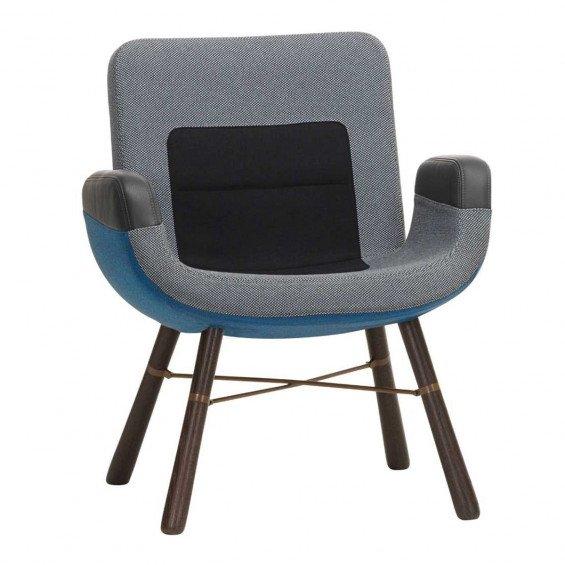 Vitra East River Chair Stoel Donker Eiken