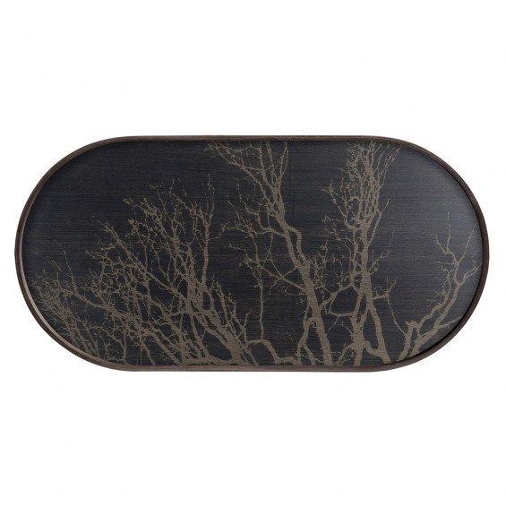 Ethnicraft Black Tree Dienblad Ovaal - M - 71 x 3 x 36 cm.