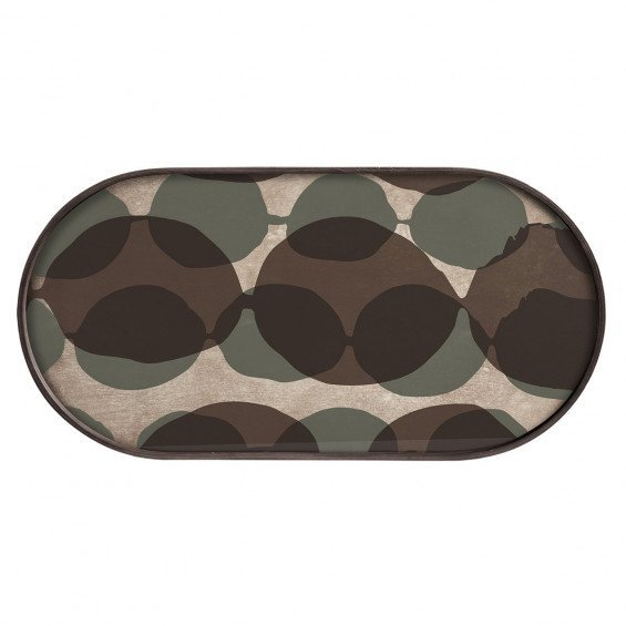 Ethnicraft Connected Dots Dienblad Ovaal - M - 71 x 3 x 36 cm.