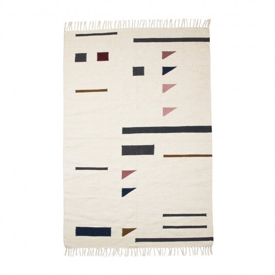 Ferm Living Kelim Rug Colour Triangles Vloerkleed Large