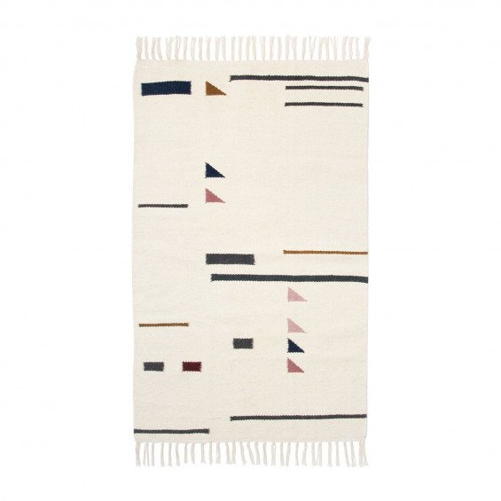 Ferm Living Kelim Rug Colour Triangles Vloerkleed Small