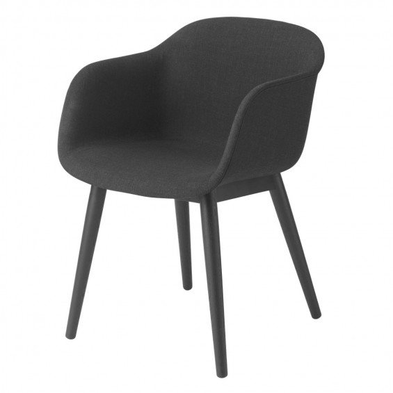 Muuto fiber chair stoel up houten poten misterdesign for Houten stoel