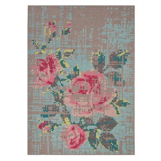 Flowers Canevas Vloerkleed, 170 x 240