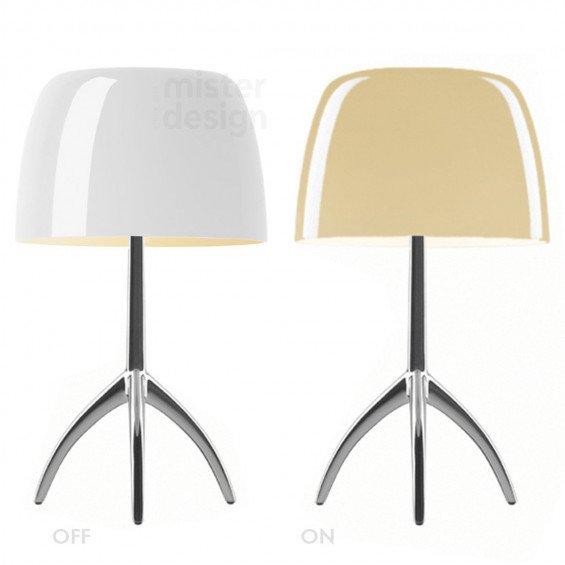 foscarini lumiere grande tafellamp dimbaar misterdesign. Black Bedroom Furniture Sets. Home Design Ideas