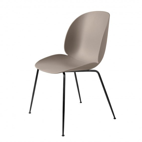 Gubi Beetle Stoel Un-upholstered Black Base