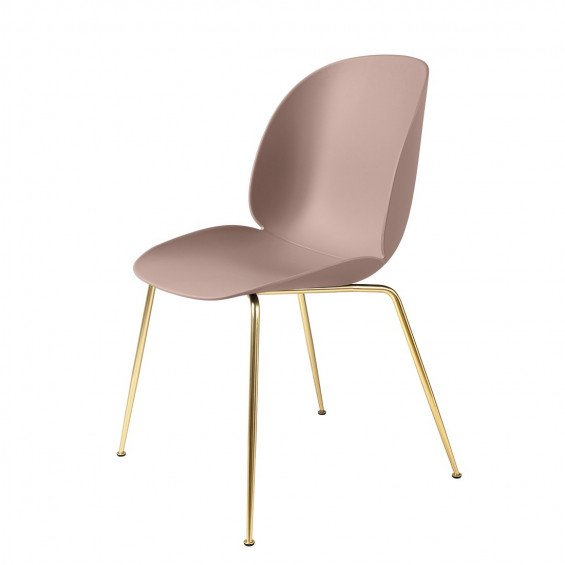 Gubi Beetle Stoel Un-upholstered Brass Base