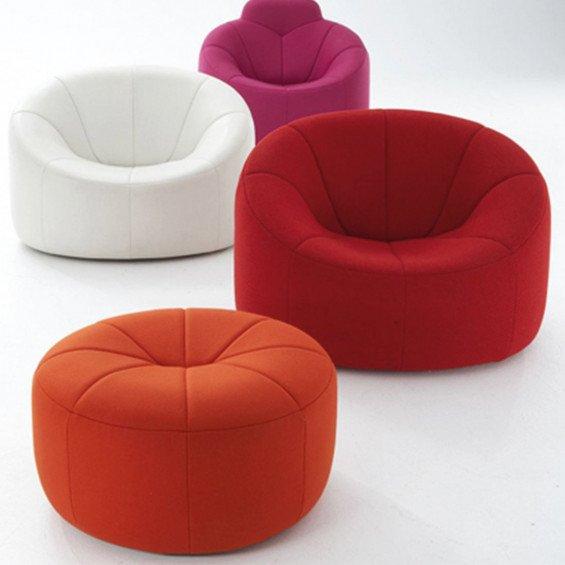 ligne roset pumpkin poef misterdesign. Black Bedroom Furniture Sets. Home Design Ideas