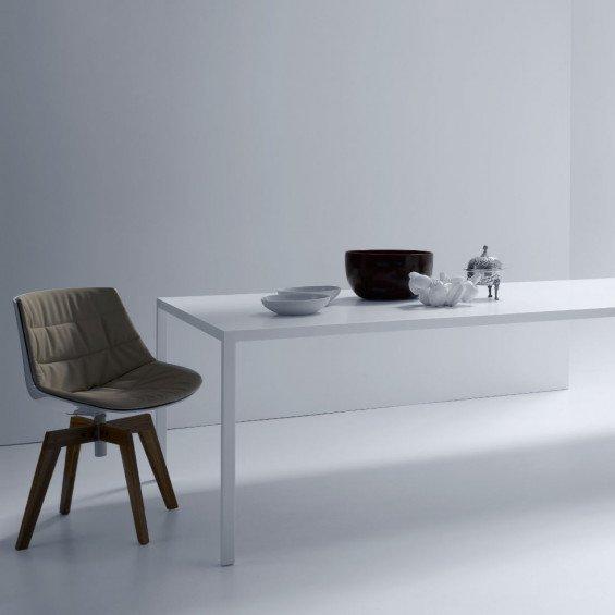 Witte Eettafel Design.Mdf Italia Tense Eettafel Wit Misterdesign
