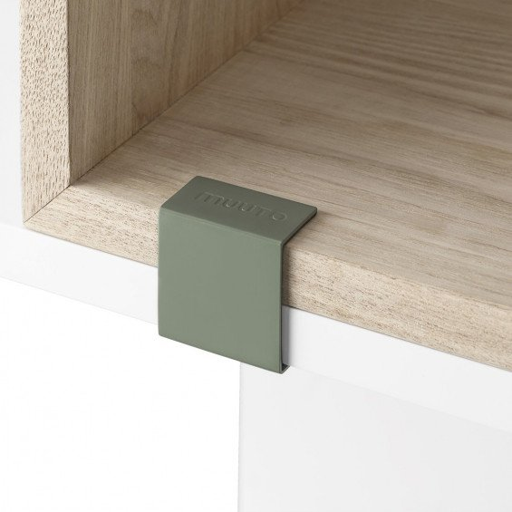 Muuto Stacked 2.0 Clips Dusty Green - 5 Stuks