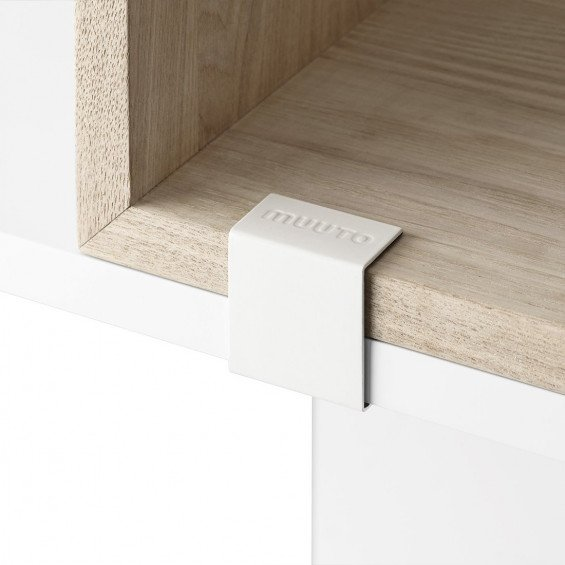 Muuto Stacked 2.0 Mini Clips Wit - 5 stuks
