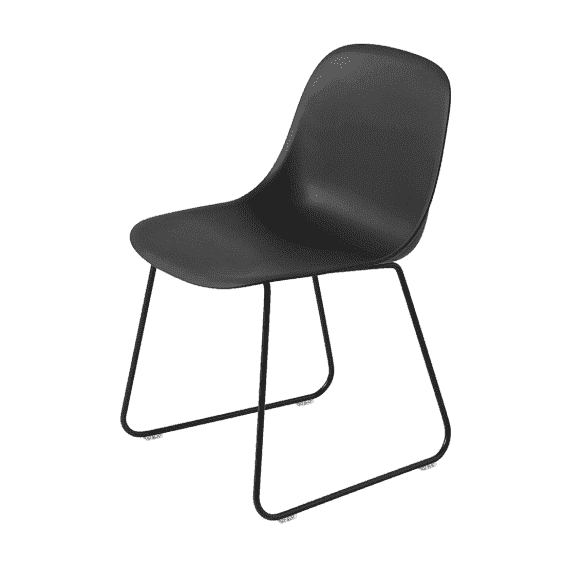muuto fiber side chair stoel sledebasis misterdesign. Black Bedroom Furniture Sets. Home Design Ideas