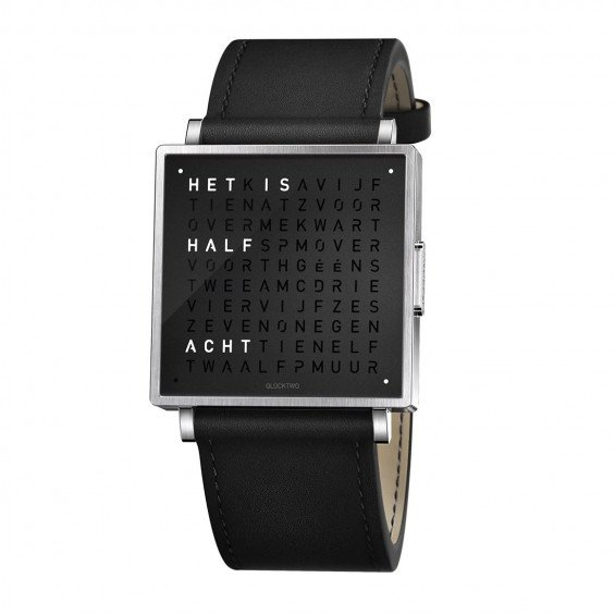 Biegert & Funk Qlocktwo Watch Pure Black