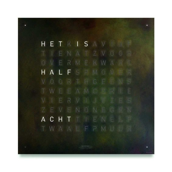Biegert & Funk Qlocktwo Large Creator's editions Nederlands