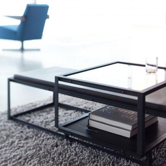 Zwarte Salon Tafel Met Glasplaat.Spectrum Tangled Salontafel Misterdesign